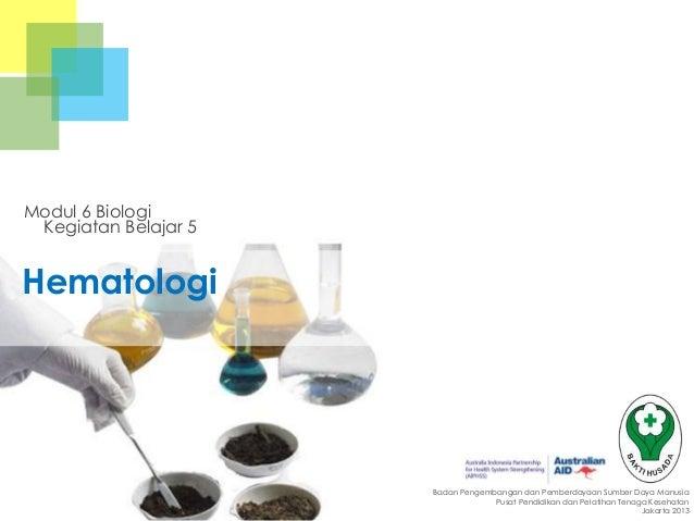 Modul 6 Biologi Kegiatan Belajar 5  Hematologi  Badan Pengembangan dan Pemberdayaan Sumber Daya Manusia Pusat Pendidikan d...