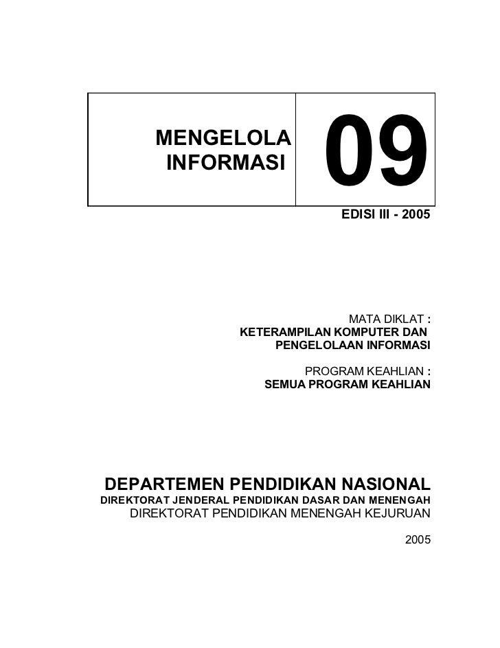 MENGELOLA          INFORMASI                                 09 EDISI III - 2005                                        MA...