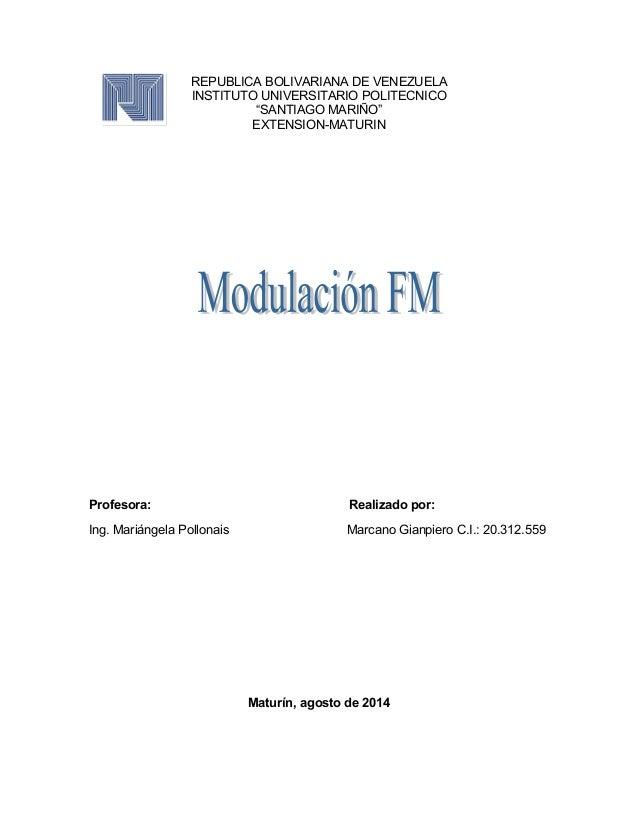 "REPUBLICA BOLIVARIANA DE VENEZUELA INSTITUTO UNIVERSITARIO POLITECNICO ""SANTIAGO MARIÑO"" EXTENSION-MATURIN Profesora: Real..."