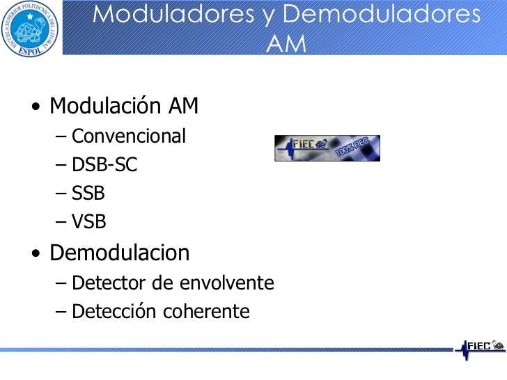 Moduladores y Demoduladores AM <ul><li>Modulación AM </li></ul><ul><ul><li>Convencional </li></ul></ul><ul><ul><li>DSB-SC ...