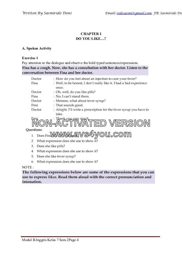 Modul Bahasa Inggris Kelas Vii Semester 2