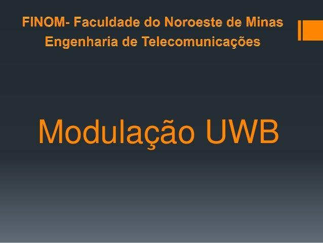 Modulação UWB