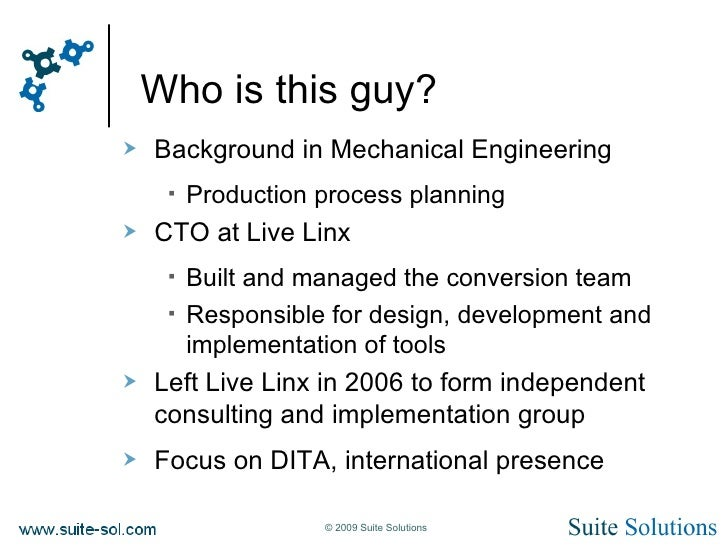 Modular Documentation Joe Gelb Techshoret 2009 Slide 3