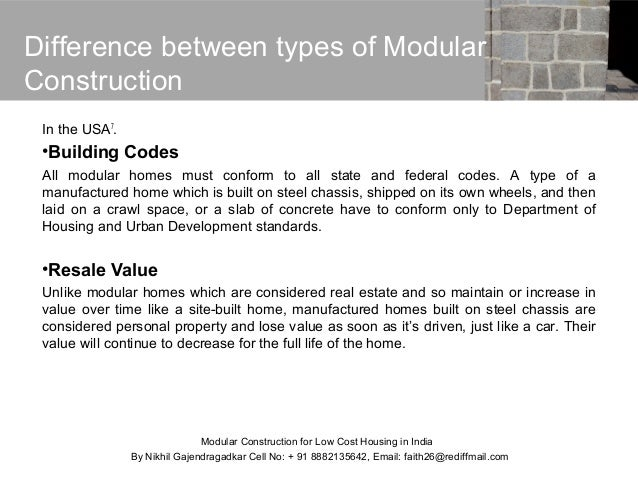 Modular construction for low cost housing in india - Modular home resale value ...
