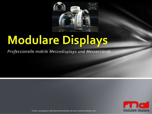 Professionelle mobile Messedisplays und Messestände Modulare Displays