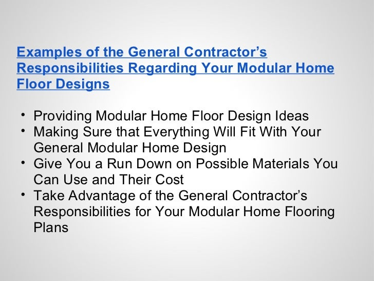 General Manufactured Housing Floor Plans: Modular Home Floor Designs And The General Contractor's