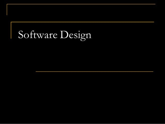 Software Design And Modularity