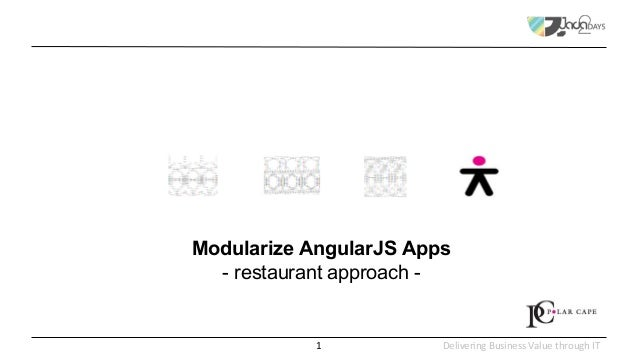 Delivering Business Value through IT Modularize AngularJS Apps - restaurant approach - 1