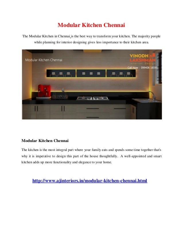 Modular Kitchen Chennai The Modular Kitchen in Chennai is the best way to transform your kitchen. The majority people whil...