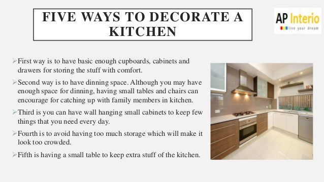 Five ways to decorate your kitchen with modular furniture for Ways to decorate kitchen