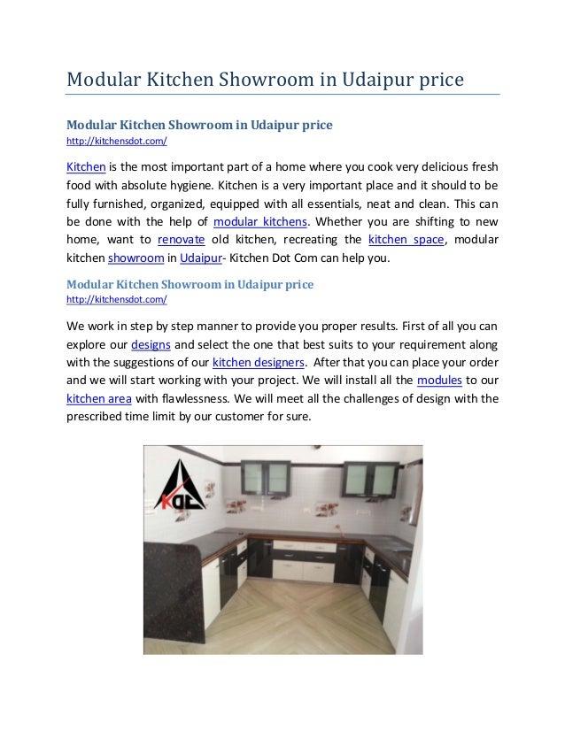 Modular Kitchen Showroom in Udaipur price Modular Kitchen Showroom in Udaipur price http://kitchensdot.com/ Kitchen is the...