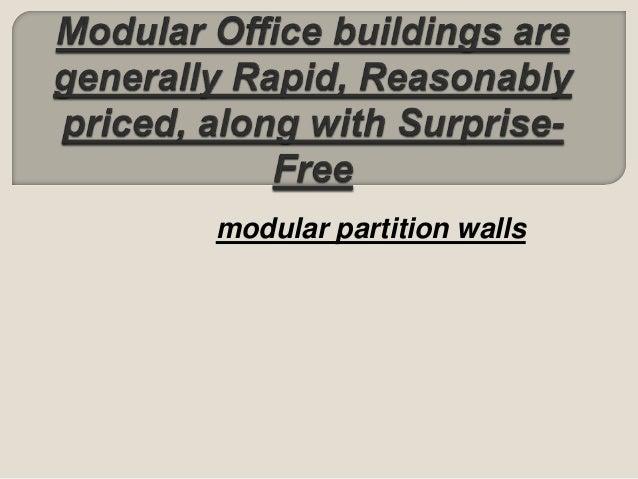 modular partition walls