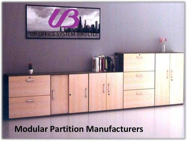 Modular Partition Manufacturers