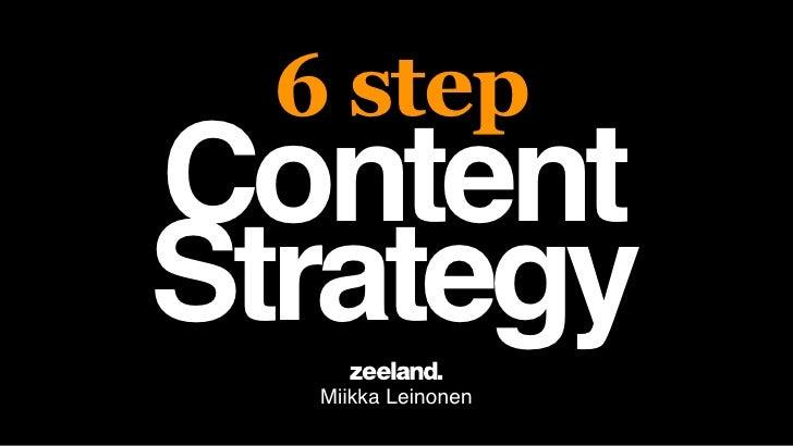 6 stepContentStrategy   Miikka Leinonen