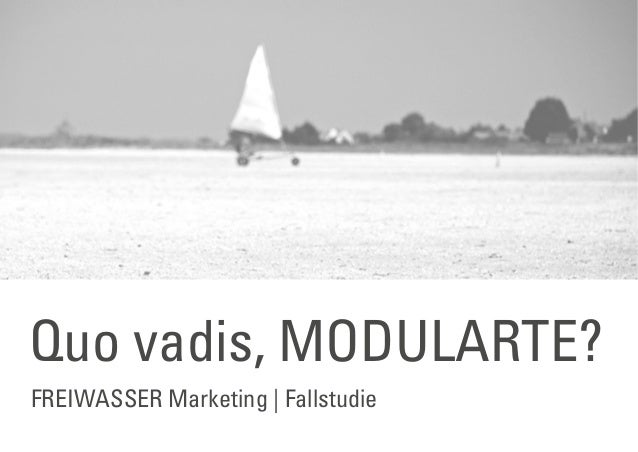 FREIWASSER Marketing | Fallstudie Quo vadis, MODULARTE?