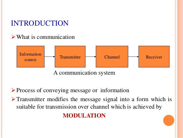 modulation is the process of