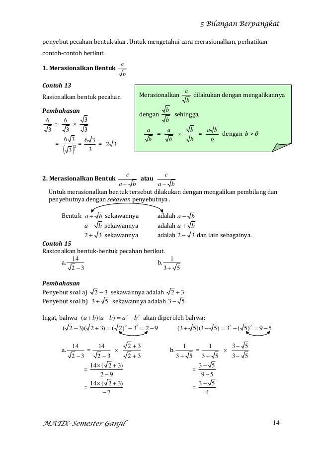 Modul Bahan Ajar Bilangan Berpangkat2012