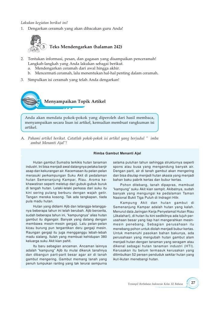 Modul Bahasa Indonesia Kelas 11