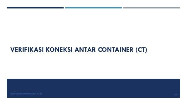 VERIFIKASI KONEKSI ANTAR CONTAINER (CT) WWW.UNIVERSITASBUMIGORA.AC.ID 143
