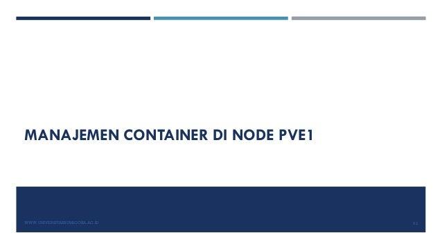 MANAJEMEN CONTAINER DI NODE PVE1 WWW.UNIVERSITASBUMIGORA.AC.ID 92