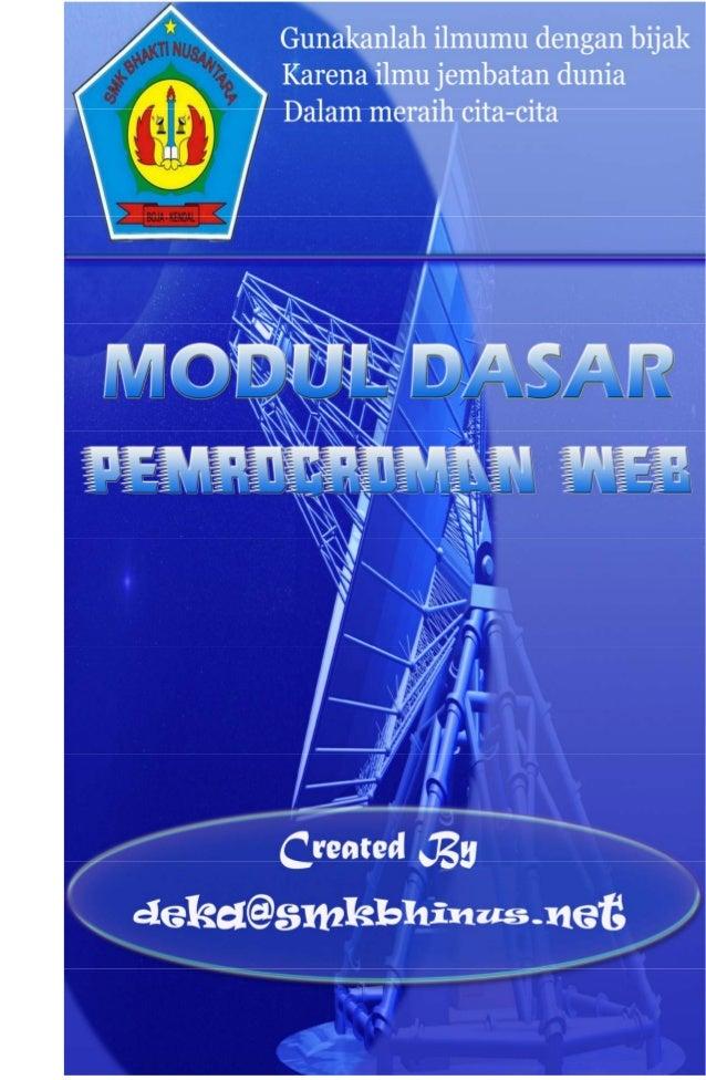 Modul Pemrograman Web  Deka M Wildan  1