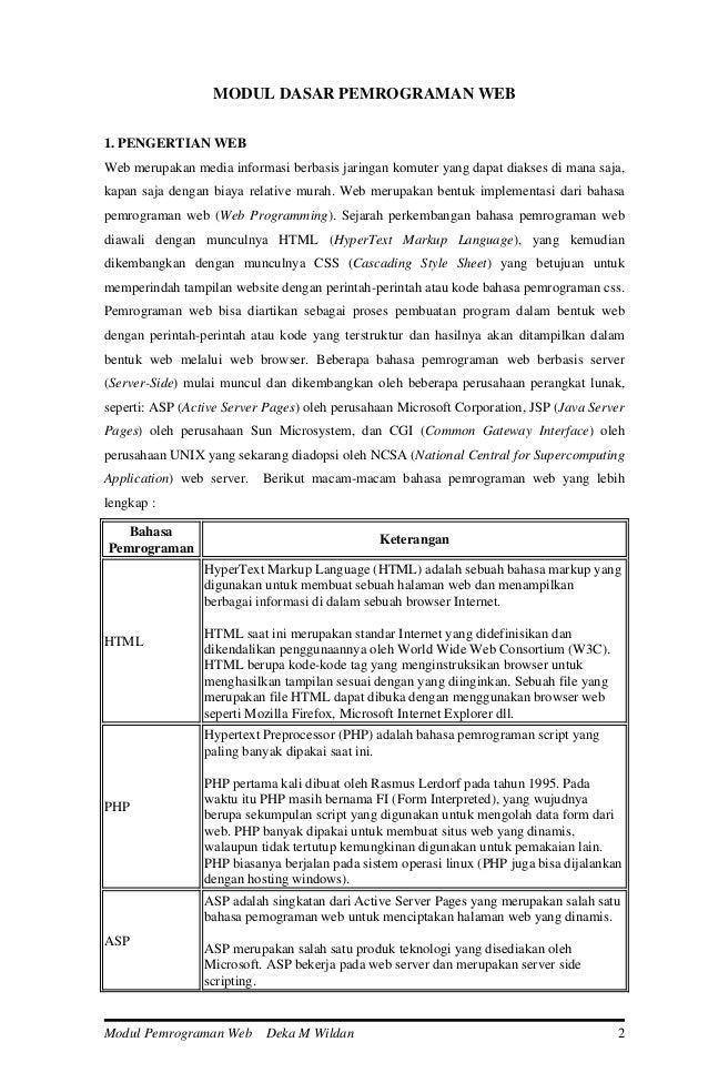 Ebook Pemrograman Html