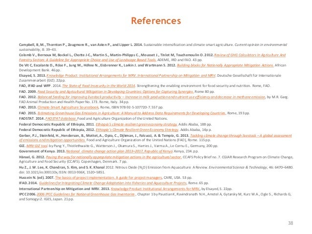 References Campbell, B, M., Thornton P., Zougmore R., van Asten P., and Lipper L. 2014. Sustainable intensification and cl...