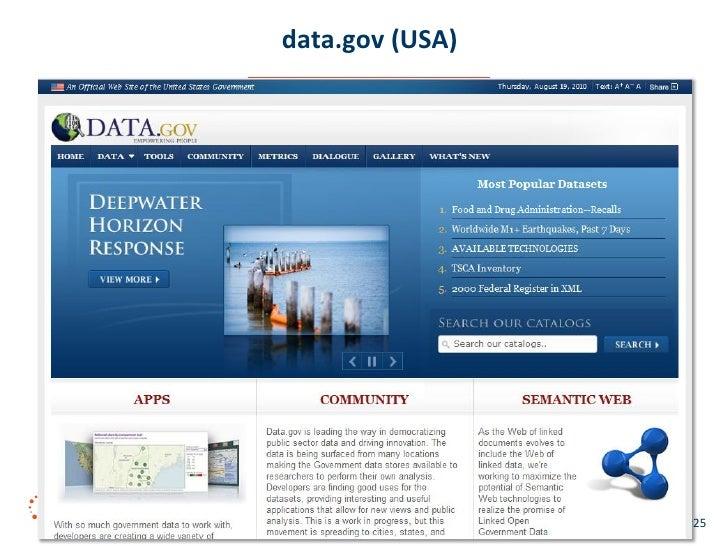 data.gov (USA)      Linked Data Management   Aug 2010   #25