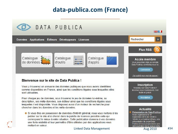 datanest.fair-play.sk (Slovakia)               Linked Data Management   Aug 2010   #34