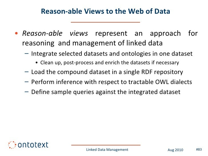 Passing the test with FactForge              Linked Data Management   Aug 2010   #83
