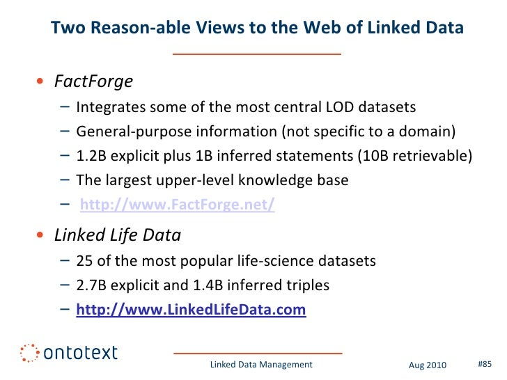 Summary of this module  • Linked Data is a set of principles that allows   publishing, querying and browsing of RDF data, ...
