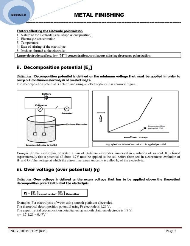 ENGINEERING CHEMISTRY: Module 2-corrosion &