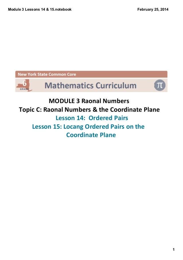 Module3Lessons14&15.notebook  February25,2014    MODULE3RaonalNumbers TopicC:RaonalNumbers&theCoordinate...