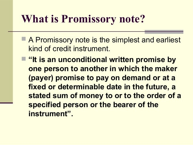 conditional promissory note
