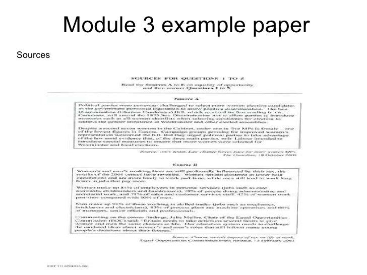 Module 3 example paper Sources
