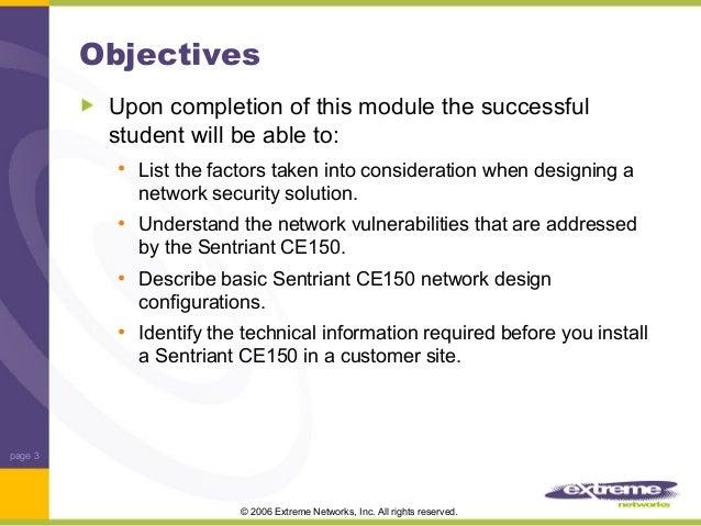 security design considerations module 3 training sample