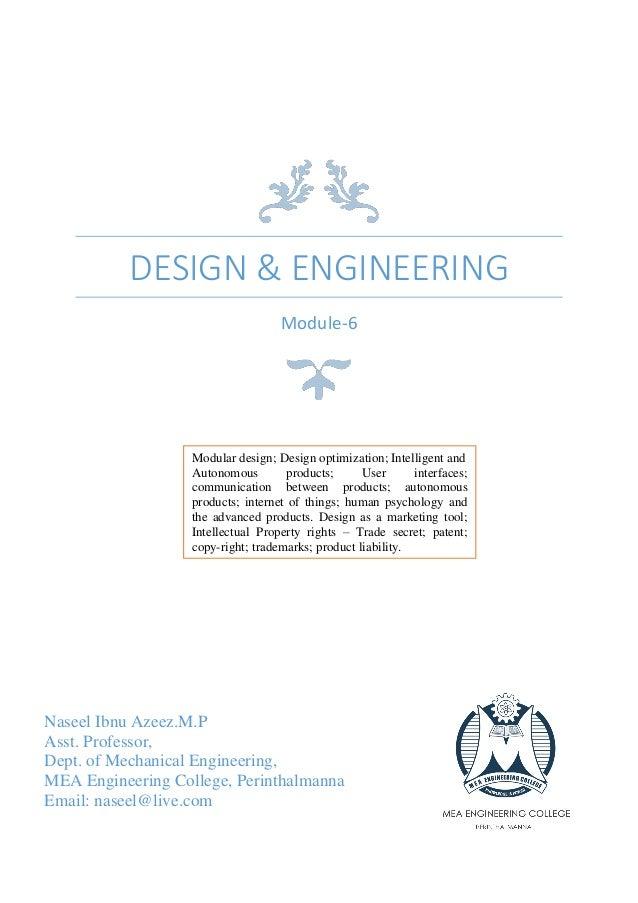 design  engineering module modular design design optimization