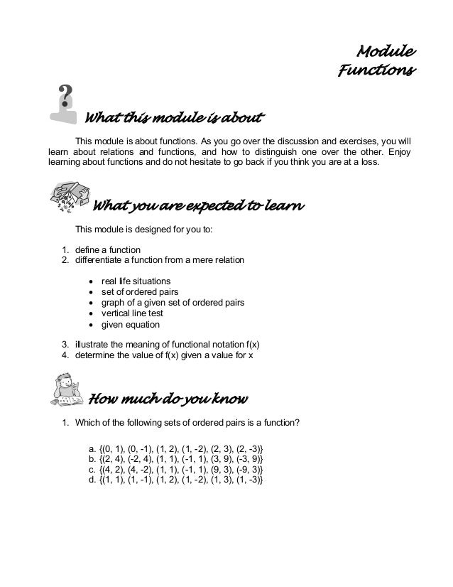 Module Functions What this module is about This module is about functions. As you go over the discussion and exercises, yo...