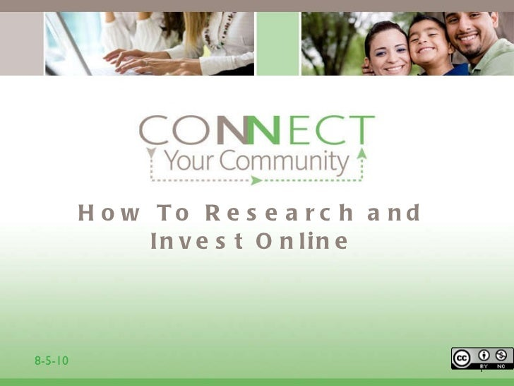How To Research and Invest Online 1 8-5-10
