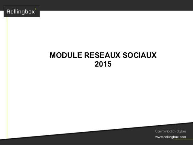 MODULE RESEAUX SOCIAUX 2015