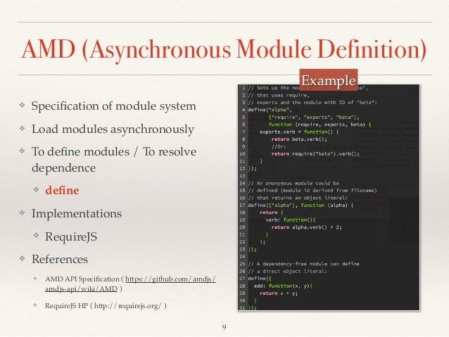 Module System of JavaScript