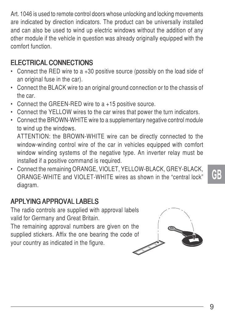 Schema Elettrico Label B50t : Module telecommande cobra chez autoprestige tuning