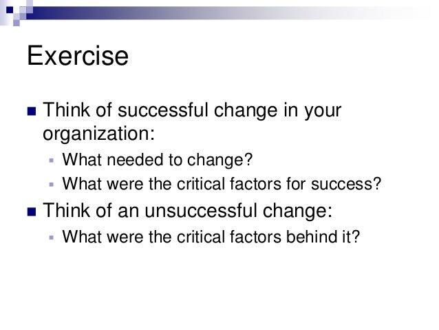 change management exercise Module 05 Change Management