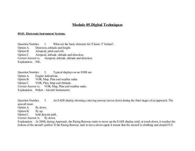Easa module 7 essay