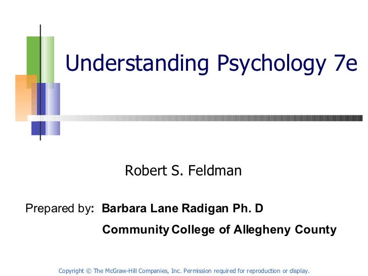 Understanding Psychology 7e Robert S. Feldman Copyright © The McGraw-Hill Companies, Inc. Permission required for reproduc...