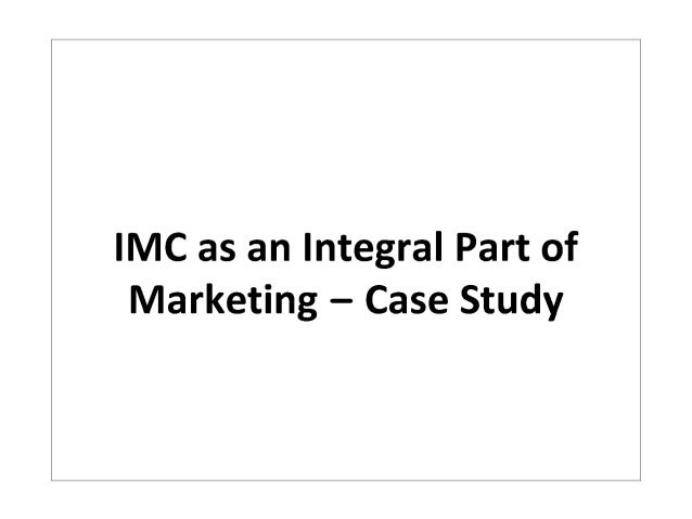 Value based imc case study rachel