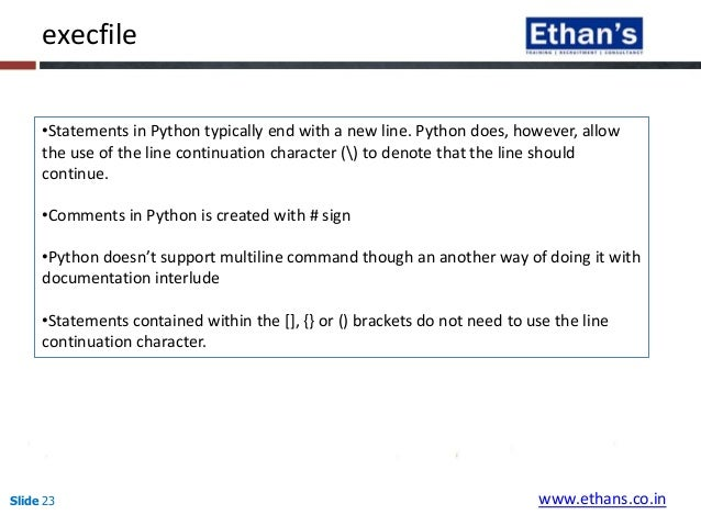 how to continue line in python