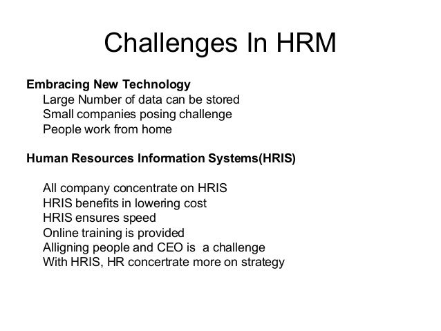 Module 1 Challenges In Hrm