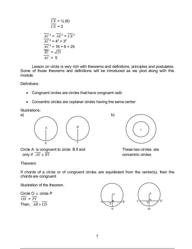 Module 1 circles