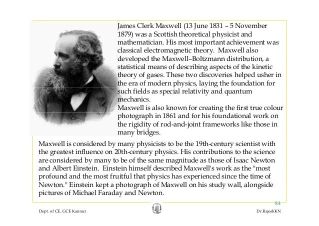 james clerk maxwells work and his development of the kinetic molecular theory Analogous approach in his contribution to a kinetic theory of gases, the well known statistical law  and to his statistical gas theory james clerk maxwell.